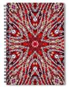 Digital Kaleidoscope Red-white 4 Spiral Notebook