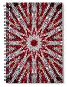 Digital Kaleidoscope Red-white 7 Spiral Notebook