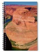 Digital Paint Horseshoe Bend  Spiral Notebook