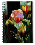 Digital Painting Vibrant Iris 6764 Dp_2 Spiral Notebook