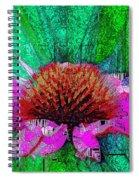 Digital Pink Echinacea  Spiral Notebook