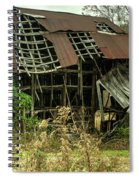 Dilapidated Barn Morgan County Kentucky Spiral Notebook