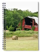 Dilapidated Old Red Barn Spiral Notebook