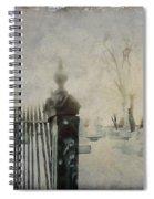 Dim Gothic Blur Spiral Notebook