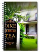 Dine Le Bistro Tea Spiral Notebook