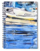 Dinghies At High Tide Spiral Notebook