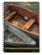 Dinghies At Rockport Spiral Notebook