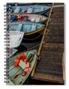 Dinghies At Town Wharf Spiral Notebook
