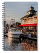 Dining At The Marina Spiral Notebook