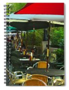 Dining Under The Umbrellas Spiral Notebook