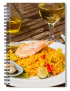 Dining With Paella Spiral Notebook