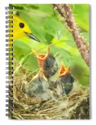 Dinner At The Warblers Spiral Notebook