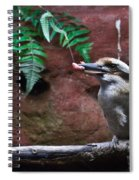 Dinner Time For Mister Bird Spiral Notebook