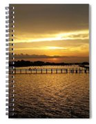 Dinning With Sunset  Spiral Notebook