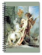Diomedes Devoured By His Horses Watercolour Gustave Moreau Spiral Notebook