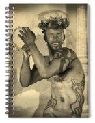 Dionysus Sepia Old Spiral Notebook