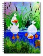 Dipping Duckies - Furry Forest Friends Mural Spiral Notebook