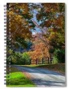 Dirt Road Through Vermont Fall Foliage Spiral Notebook