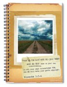 Dirt Road With Scripture Verse Spiral Notebook