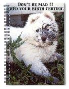 Dirty Dog Birthday Card Spiral Notebook