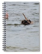 Dirty Water Dog And Feet Spiral Notebook