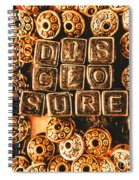 Disclosure Spiral Notebook