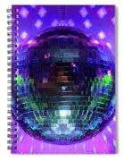 Disco Ball Purple Spiral Notebook
