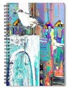 Disco Dock Seagull Spiral Notebook