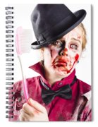 Diseased Woman With Big Toothbrush Spiral Notebook