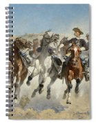 Dismounted The Fourth Troopers Moving The Led Horses Spiral Notebook