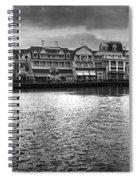 Disney World Boardwalk Gazebo Panorama Bw Spiral Notebook