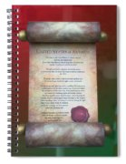 Disney World Christmas In The United States Scroll Spiral Notebook