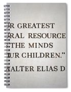 Disney World Our Greatest Natural Resource Signage Spiral Notebook
