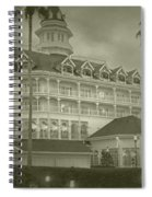 Disney World The Grand Floridian Resort Vintage Spiral Notebook
