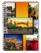 Disneyland Collage 02 Yellow Spiral Notebook