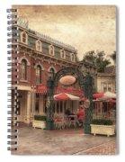 Disneyland Corner Cafe Pa Textured Spiral Notebook