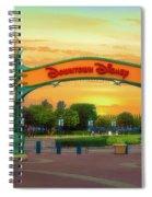 Disneyland Downtown Disney Signage 02 Spiral Notebook