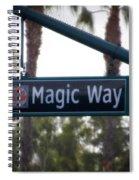 Disneyland Magic Way Street Signage Spiral Notebook