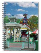 Disneyland Toontown Young Man Proposing To His Lady Panorama Spiral Notebook
