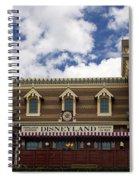 Disneyland Train Depot Signage Spiral Notebook