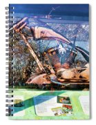 Display Lady Liberty Copper Bike Ny Spiral Notebook
