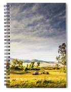 Distant Car Wrecks On Outback Australian Land  Spiral Notebook