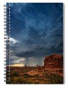 Distant Desert Storm Spiral Notebook