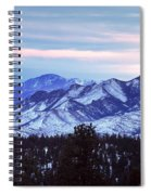 The Distant Peaks Of Pikes Spiral Notebook