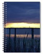 Distant Storms At Sunset Spiral Notebook