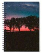Distant Trees Under Milkyway Horizon By Adam Asar 2 Spiral Notebook