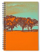 Distant Trees Under Milkyway Horizon By Adam Asar Spiral Notebook
