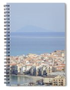 Distant View Of Cefalu Sicily Spiral Notebook