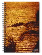 Distant View Of Outrigger Spiral Notebook