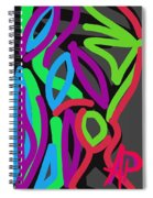 Distorted Geometry Spiral Notebook